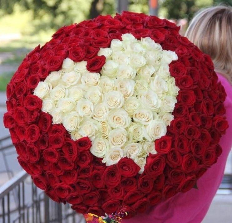Заказ цветов букет 101 роза, доставка поронайск